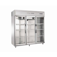 Buy cheap Air Cooling 650W 3 Door Upright Glass Door Chiller from wholesalers