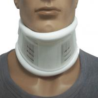 Buy cheap White Semi Rigid Medical Neck Collar Adjustable Cervical Collar Artificial Leather from wholesalers