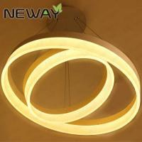 Buy cheap Round Circle Decorative Lighting LED Pendant Light wedding decoration modern ring crystal chandelier from wholesalers