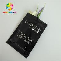 Buy cheap Zip Top Heat Seal Packaging Bags Eyelashes Holographic Stand Up Pouch Clear Front from wholesalers