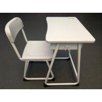 Buy cheap Hollow Student Desk And Chair Set With Plastic Backrest / Top Table from wholesalers