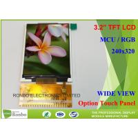 Buy cheap Customizable LCD Screen 3.2 Inch 240x320 TFT LCD Display Option Touch Panel product