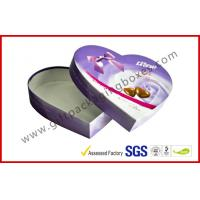 Buy cheap Heart-Shape Lecote Chocolate Gift Packaging Boxes With Food Grade Printing , 157G Coated Paper Boxes from wholesalers