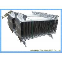 Buy cheap Crowd Control Barrier Mesh Fencing Steel Pipe Light Silver For Sporting Events from wholesalers
