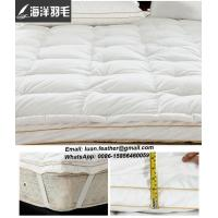 Buy cheap White Goose Feather And Down Featherbed Topper For Full Size Bed from wholesalers