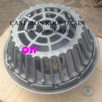 Buy cheap 15 1/4 Inch Large Sump Cast Iron Roof Drain with No Hub Outlet from wholesalers