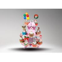 Buy cheap Corrugated Cardboard Cup Cake Stand / Corrugated Paper Wedding Cake Stand from wholesalers