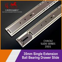 Buy cheap 35mm Single Extension Ball Bearing Drawer Slide With 15KG Load Capacity 3501 from wholesalers