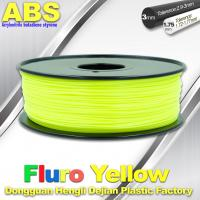 Buy cheap Fluorescent ABS 3d Printer Filament ABS 3D Printing Material For Desktop Printer product