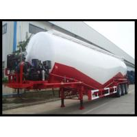 Buy cheap 3 Axles Dry Bulk Cement Trailers , Leaf Spring Suspension Cement Bulk Truck product