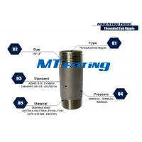 Buy cheap ASTM A106 F317L Forged High Pressure Stainless Steel Pipe Fittings / Threaded Pipe Nipple product