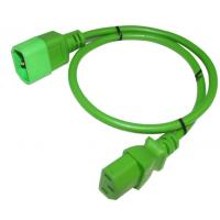China IEC 320 C13 To C14 SJT Power Cable14AWG Power Extension Cord Green Black and Red on sale
