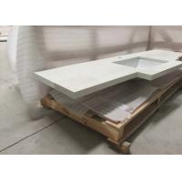 Buy cheap Interior Artifical Quartz Stone Slab Polished Custom Design For Countertop Vanity from wholesalers