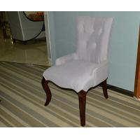 China Purple Wooden Restaurant Furniture  Modern Violet Dining Chair with Tufted Back on sale