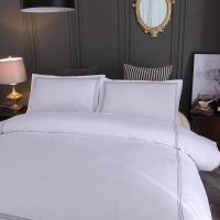 Buy cheap Hotel embroidery Bedding Set Queen/King Size White Duvet Cover Sets Hotel Bed Linen Set Bedding Pillowcase from wholesalers