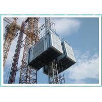 Heavy Construction Hoist With 3 Ton Lifting Capacity , Double Cabin Building Hoist