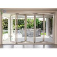 Buy cheap Aluminum Double Glazed Folding Sliding Mosquito Screen Accordion Bi-fold Door from wholesalers