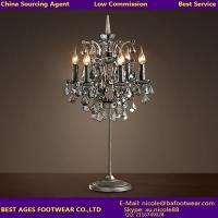 Buy cheap Crystal center pieces for weddings desk light wholesale glass table lamp from wholesalers