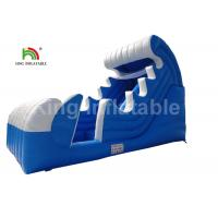 Buy cheap PVC Tarpaulin Spray Blow Up Water Slide For Pool Customized Ocean Theme from wholesalers