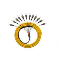 Buy cheap Bunchy Single Mode Fiber Patch Cord G652D ST 12 Cores Low Insertion Loss from wholesalers