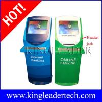 Buy cheap Online banking touch screen custom kiosk design with A4 printer,metal keyboard from wholesalers