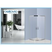 Buy cheap Quadrant Stainless Steel Shower Enclosures Double Sliding door Bathroom Shower Stall from wholesalers