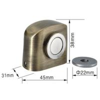 Buy cheap Construction Hardware Zinc floor strong magnetic door stopper unfading and durable from wholesalers
