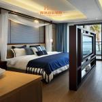 Buy cheap Modern Resort / Star Hotel Bedroom Furniture Queen Size Dark Brown from wholesalers
