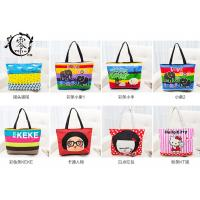 Buy cheap Multiple Designs Lady Canvas Recycle Grocery Bags Cartoon Pattern Girls Shoulder Bags Handbags from wholesalers