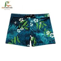 Buy cheap factory supplier OEM sublimation printing polyester fabric mens swimwear from wholesalers