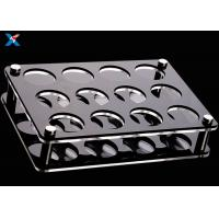 Buy cheap Transparent Acrylic Display Rack 6 Holes Clear Acrylic Cup Holder Cocktail Wine Rack Tray from wholesalers