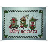 Buy cheap 33x45cm New design woven fabric tapestry Christmas holiday placemat from wholesalers