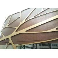 Buy cheap 4mm Thick PVDF Coating Curved Aluminum Veneer Perforated Metal Ceiling Panels from wholesalers