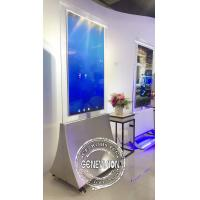 Buy cheap Dual Side Digital Advertising Screens 55'' Floor Stand Transparent OLED Panel from wholesalers