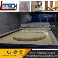 Buy cheap kitchen cabinet decorative sliding door panels vacuum membrane press machine from wholesalers