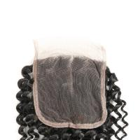 China Clean Weft Human Hair Lace Closure 4 * 4 , Human Lace Wigs With Baby Hair on sale