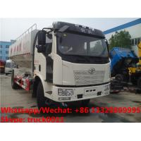 Buy cheap HOT SALE! good price FAW 4*2 LHD 10tons bulk feed fodder transporting truck , electronic discharging bulk feed truck from wholesalers