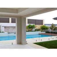 Buy cheap Safety round frosted glass balustrade frameless pool fencing spigot glass railing from wholesalers