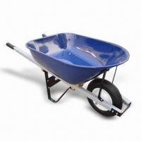 Buy cheap Homeowner Wheelbarrow with 6ft³ Seamless Steel Tray, Front Tray Braces and Steel Rim product