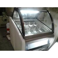 Buy cheap Low Noise 10 Pans Gelato Ice Cream Display Fridge With Stainless Steel Material from wholesalers