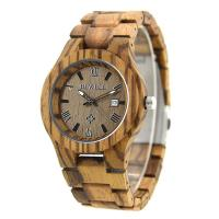 Buy cheap Waterproof Custom Men Wooden Watches With Miyota Japanese Movement , Natural Wood Color from wholesalers