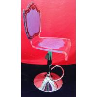 Buy cheap High Grade Crystal Acrylic Bar Chair With Rolling Base For Gift , Colorful from wholesalers