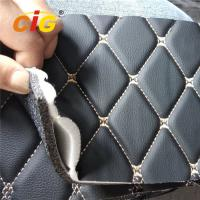 Buy cheap Waterproof / Flame Retardant Sponge PVC Leather For Car Mat Car Seat Cover product