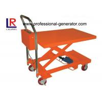 Buy cheap Heavy Duty Hydraulic Mini Scissor Small Electric Lift Table 860MM Lift Height product