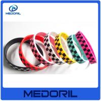 Buy cheap OEM silicone bracelet with logo custom shape silicone bracelets for couple from wholesalers