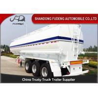 2 / 3 Axles Fuel Tanker Semi Trailer With 2 - 10 Compartments 30-60CBM