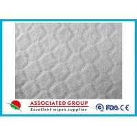 Buy cheap Anti Static White Spunlace Nonwoven Fabric For Wet Wipes , Customzied size from Wholesalers