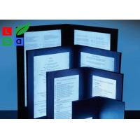 A4 A5 Size LED Menu Board , Eco Friendly Illuminated Backlit LED Menu Display