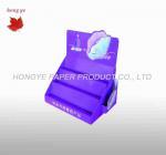 Buy cheap Purple Advertising Cardboard Display Boxes , Recycled Paper Display Rack from wholesalers