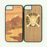 Buy cheap Customized Creative Embossed Real Wooden Cell Phone Covers for iPhone from wholesalers